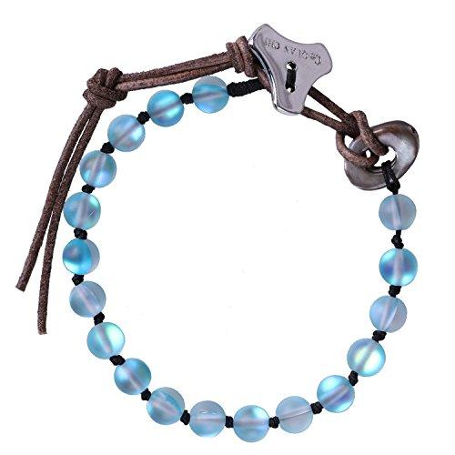 C.QUAN CHI Damen Perlen Armbänder Mondstein Schmuck Bohemian Armband Edelstein Strang Armband Charm Einstellbar Armband Frauen Geschenke Teen Girl