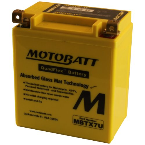 MOTOBATT Batteria Potenziata AGM 8 AH MBTX7U