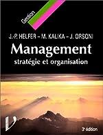 Management - Stratégie et organisation de Jean-Pierre Helfer