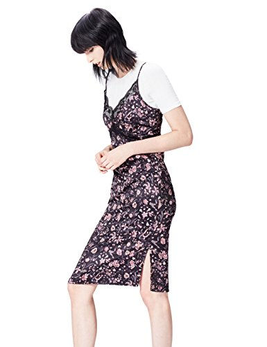 FIND 13603 vestidos mujer, Multicolor (Black Mix), 48 (Talla del Fabricante: XXX-Large)
