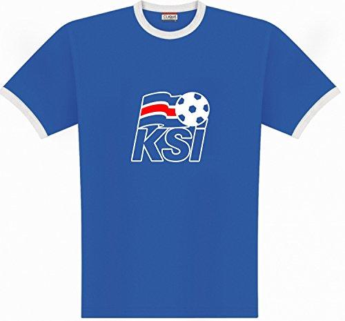World of Football Ringer T-Shirt Island Logo - 164