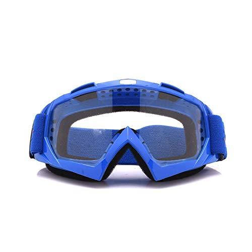 Schutzbrille Werkstatt Motorradhelm Off Road Geländesport Skibrille Lokomotivschutzbrillen Fährt Blue Transparent Damen Herren