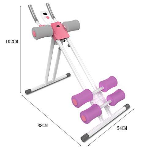 XP Bauchtrainer, Bauch Maschine Haushalt dünne Taille Maschine faule Bewegung faltbare Fitnessgeräte,LILA