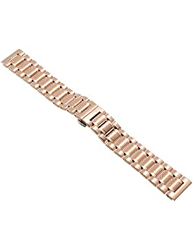 14mm Herren Damen Rosegold Stahl Edelstahl Quarz Wrist Uhren-Armband Uhrenarmbänder Uhrband Watch Band Watch Strap...