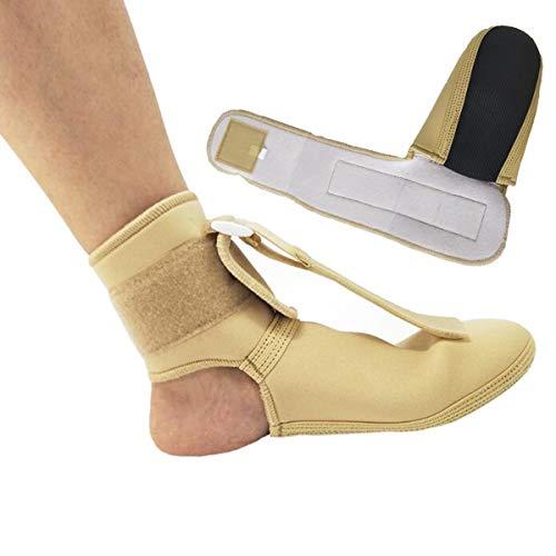 Chennie Fußstütze Verstellbare Fasciitis Nachtschiene Plantar Ankle Wrap Stützklammer für Gelenkschmerzen Stabilisierende Bänder Verhindern Sie Wiederverletzung (Color : Skin Color, Size : S) Ankle Wrap Band
