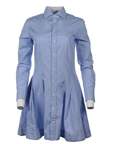 Ralph Lauren Damen Kleid - Blau, Pink, Blau gestreift (Hellblau, S (Herstellergr. 4))