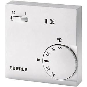 EBERLE 111110451100 Eberle RTR – E 6202 Raumtemperaturregler mit Netzschalter Ein/Aus und LED Heizen & Adapterrahmen…