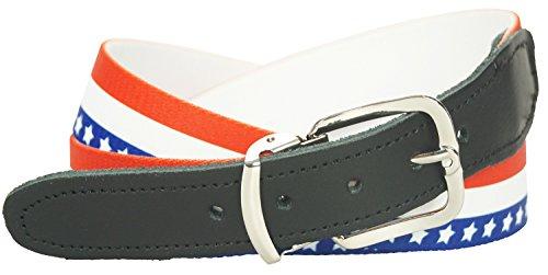 Xeira  Elastikgürtel - Stretchgürtel - Enzian, Bayern, Deutschland, Gestreiftes Design - Bundweiten 70cm bis 160cm verfügbar (USA, 140cm)