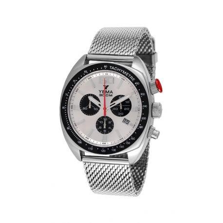 Reloj yema meangraf hombre soleillé Silver y contadores negros–ymhf1443–Idea regalo Noel–en Promo