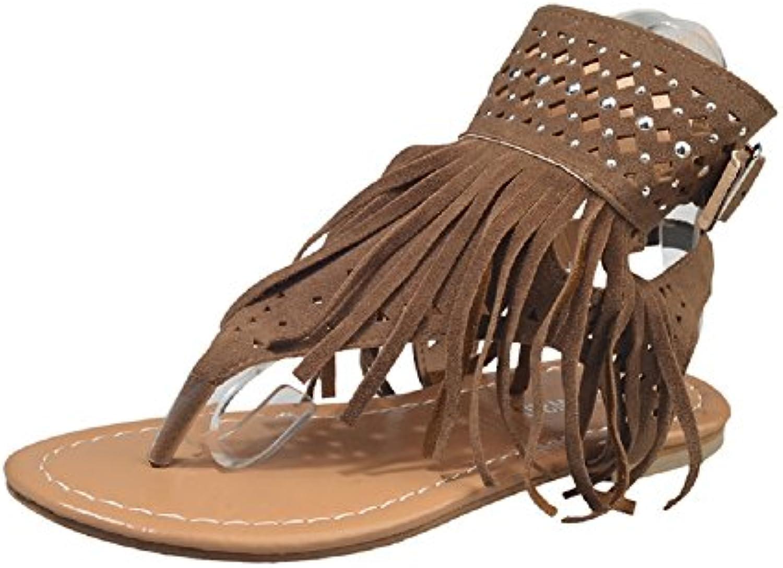 tong  s sandales flat summer, escarpins fringe beach confortable forme à la plate - forme confortable roman tassel bout ouvert gladiateur... 0edca9