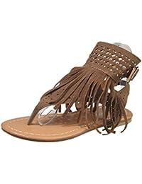 Gabor Shoes - Zapatillas de deporte de cuero nobuck para mujer, color marrón, talla 44