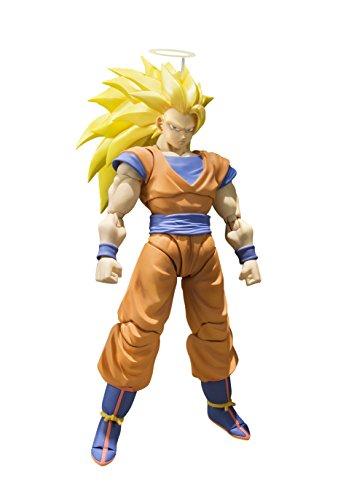 Bandai- S.H. Figuarts Super Saiyan 3 Son Goku Dragon Ball Z Figura,, 20,3 cm...