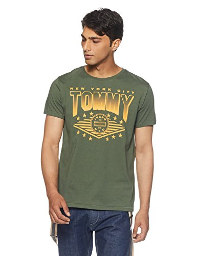 a019b92bd9d3be Tommy Hilfiger Men s Printed Regular Fit T-Shirt - B078HH459H Best ...