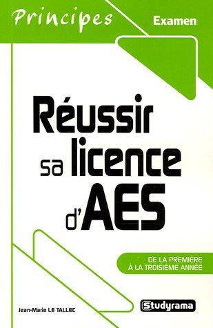 Réussir sa licence d'AES : De la première à la troisième année