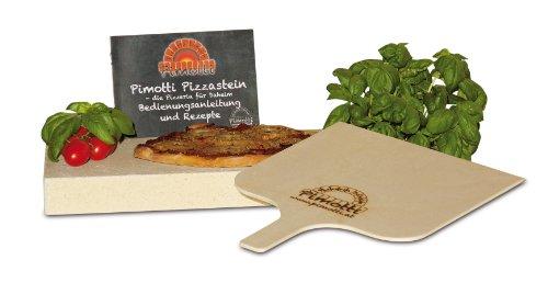 Pimotti Pizzastein – 5 cm Dicke mit Pizzaschaufel und Rezepten - 2