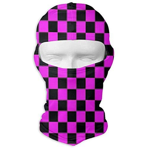 Wdskbg Ski Mask Purple and Black Buffalo Plaid Sun UV Protection Dust Protection Wind-Resistant Face Mask for Running Cycling Fishing Multicolor2 - Buffalo Plaid Fleece