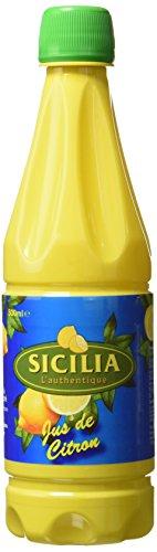 Sicilia L'authentique : Jus de citron - 500 ml - Lot de 3