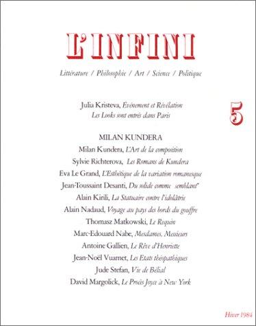 L'infini, numéro 5 : Julia Kristeva, événement et révélation - Les looks sont entrés dans Paris.