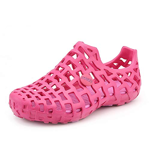 ccad4192f62 POPLY Sandals   Beach Shoes Big Size Breathable Hollow Out Pure Color Flat  Clog Flatform Sandals