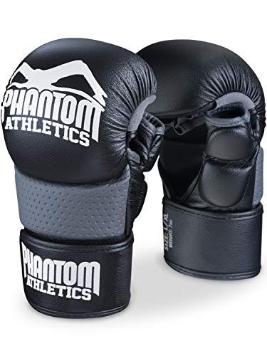 Phantom MMA Handschuhe RIOT - Optimaler Schutz für Sparring - Extra Sicherheit für Daumen und Handgelenk - Offener Griff für jeden Kampfsport wie Grappling - Fight und Training - Herren und Damen