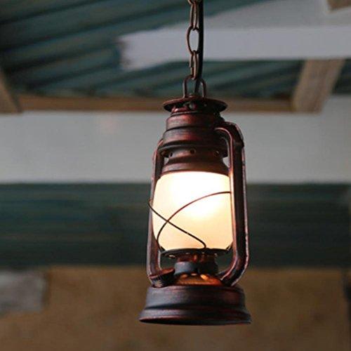 FWEF vetro Armco pulsante ciondolo cherosene lampada vecchio olio lampada Retro Vintage luci Classic Antique Bar Cafe terrazza spazio Lampadario 5-10 mq (14 *