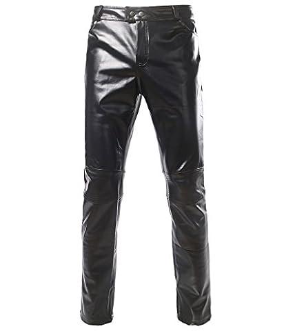 Choose Men Homme pantalons slim effet métallisé 2XL noir
