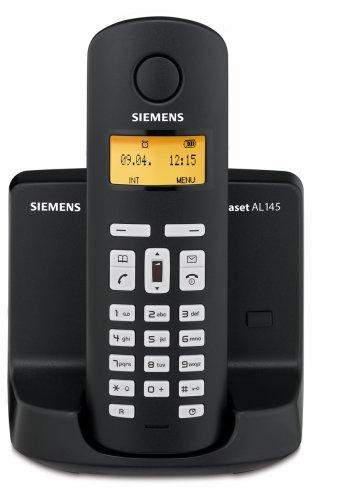 Siemens Gigaset AL145 schnurloses DECT-Telefon mit integriertem digitalen Anrufbeantworter, schwarz