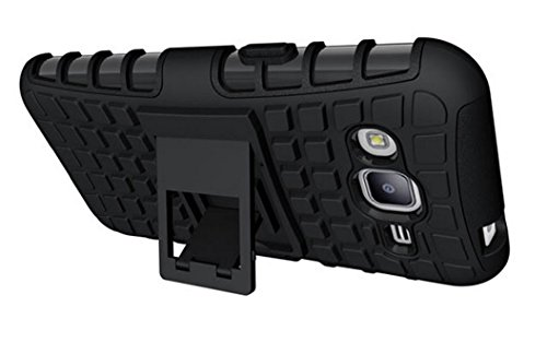 SDO Rugged Dual Layer Kickstand Hybrid Warrior Case Back Cover for Samsung Galaxy J2 – Black