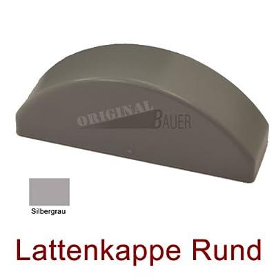 Bauer 114055, Lattenkappe rund in Silbergrau für Bauer Kunststoff Zaun von Bauer-Systemtechnik GmbH bei Du und dein Garten