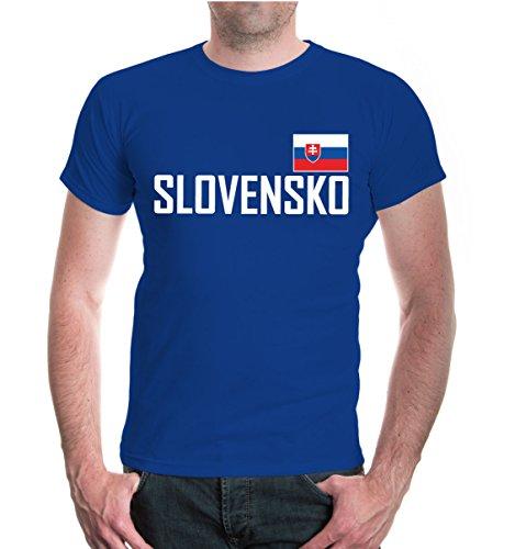 buXsbaum T-Shirt Slowakei royal-
