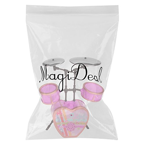 Rosa Shocking Drum Set Per Barbie Doll