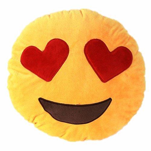 NO:1 Emoji Smiley Emoticon rond coussin oreiller en peluche peluche peluche coeur-oeil 0646284776264