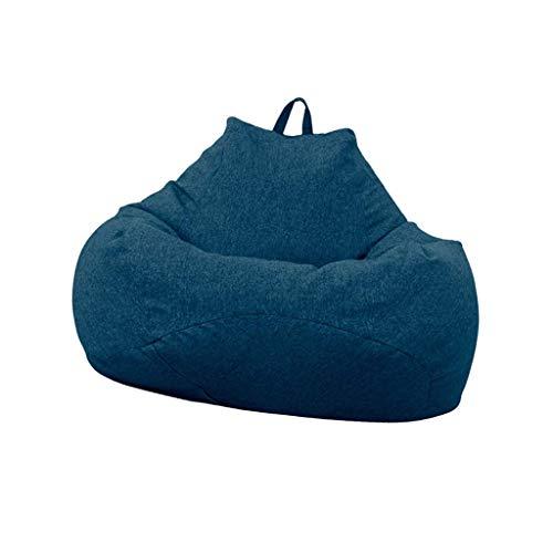 Bean Bag Sitzsack-Sofa-Erwachsener, fauler Sofa-Stuhl personifiziertes im Freien verwendbares für Spielzeug-Speicher (Color : Blue)