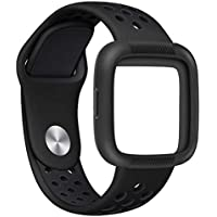 84c1b53a8701 SamLIKE Bracelet for Fitbit Versa with Protective Case for Men and Women