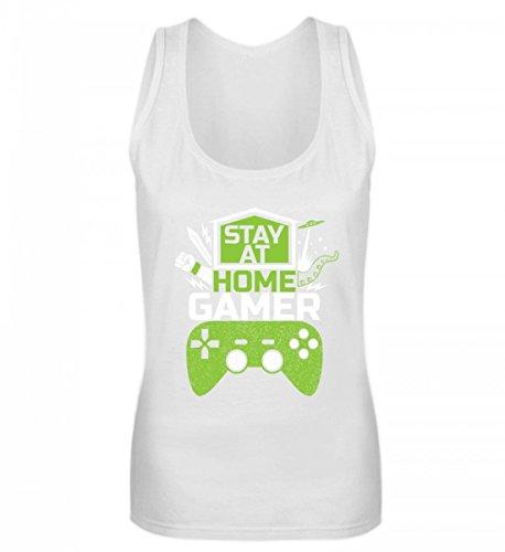 Hochwertiges Frauen Tanktop - Stay At Home Gamer - Gaming Videospiele Zocker Zocken Online Multiplayer Videogames Weiß