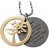 Love Symbol and Inspirational, Motivational Milne's Quote Stainless Steel Pendant