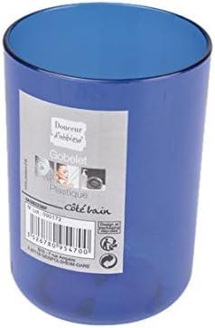 Interior Suavidad 6ASB223BF Cáliz de baño de plástico azul translúcido Rey 7 x 7 x 10 cm