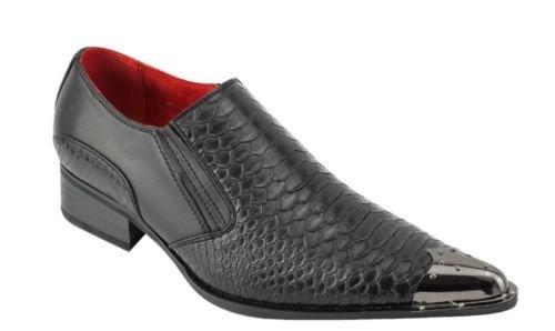 Rossellini Herren Slipper, Schwarz - Schwarz - Größe: 42 EU (Schwarze Herren Dress Shoes Loafers)