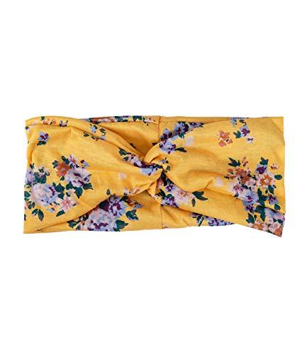 Herz Hausschuhe Kostüm Prinzessin - YSTRDY Damen Haarschmuck, Haarband, Bandana mit Knoten in gelb mit bunten Blumen und floramen Muster (490-768)