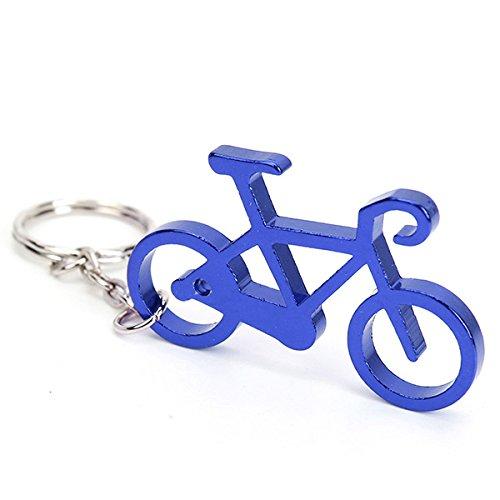 GOZAR Flasche Wein Bieröffner Tool Neuheit Fahrrad Fahrradschlüssel Anhänger - Blau Wein-tool