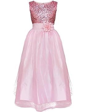WOLFTEETH las muchachas de flor de las lentejuelas del vestido sin mangas de la princesa cumpleaños boda de dama...