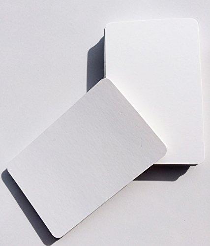 100Blanko Spielkarten (beide Seiten) blanko in wiederverschließbarer Beutel
