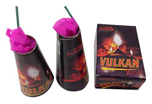 CMG P019 5x je 2 = 10 Vulkan Feuerwerk Set mit knisternden Leuchteffekten