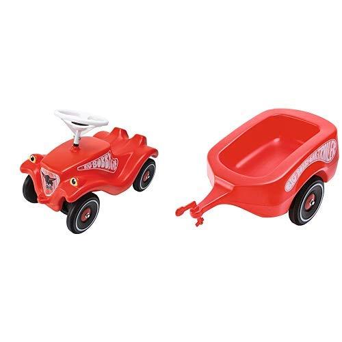 BIG Spielwarenfabrik BIG 800001303 - Bobby-Car-Classic, rot &  Spielwarenfabrik BIG 800001300 - BIG-Bobby-Car-Trailer rot