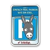 easydruck24de Parkesel Auto-Scheiben-Aufkleber gegen Parkidioten I kfz_279 I DIN A6 I Verwarnung für Falschparker I Sticker zum Frustabbau I 100er Set