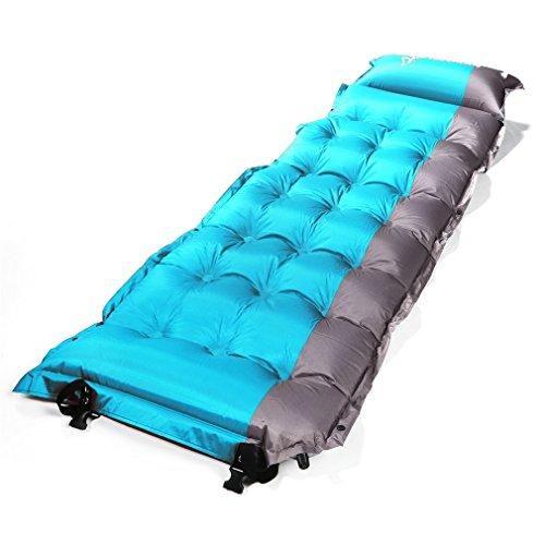 Aufblasbare Luftmatratze OUTAD Portable gespleißt selbstaufblasende Matte/Pad Matratze schlafen, faltbare selbstaufblasende Campingmatte mit eingebautem Kissen und Sack, ideal für Camping, Wandern, Zelten