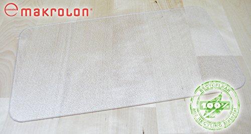 TP Tischmatte STRUCTURE transparent (50x70 cm) mit strukturierter Oberfläche und patentierter Haftschicht, aus Makrolon, als Tischset, Arbeitsunterlage oder Schutzmatte