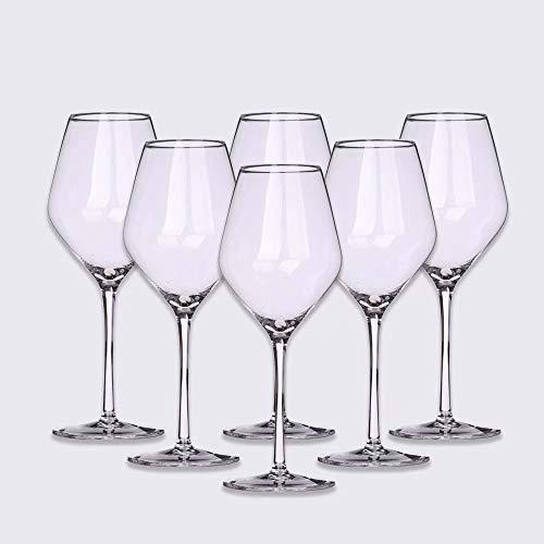 hsy Mundschlag Burgunder Bleifreies Kristallglas Weinglas 2er-Set Geeignet für Verschiedene Weinanwendungen Pinot Noir, Gamay, Zweigelt, St. Laurent usw. Rotweinglas