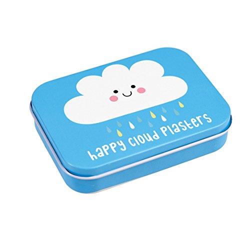Kinderpflaster in schöner Aufbewahrungsdose für die Wickeltasche Handtasche Schulzanzen oder Kindergartentasche I 30 Pflaster I Motiv (Wolke)
