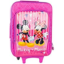 Maleta semirrígida MICKEY & MINNIE fuxia mini equipaje de mano ryanair